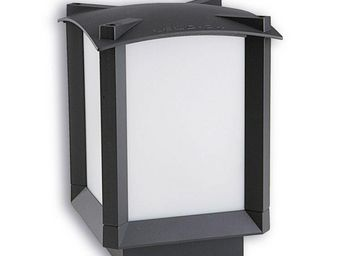 Leds C4 - borne carrée lumineuse mark 16 cm h22 cm - Borne D'extérieur