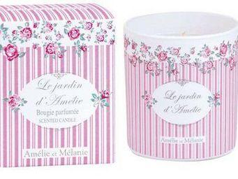 Amelie et Melanie - le jardin d'am�lie - Bougie Parfum�e