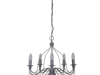 Corep - symphonie - lustre 5 lampes gris | suspension core - Lustre