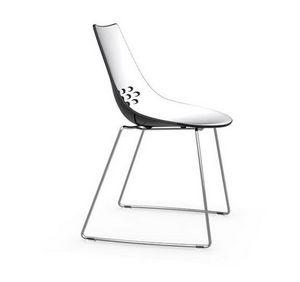 Calligaris - chaise design jam de calligaris piétement luge ass - Chaise