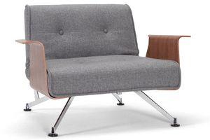 INNOVATION - fauteuil design clubber accoudoirs gris convertibl - Fauteuil Bas
