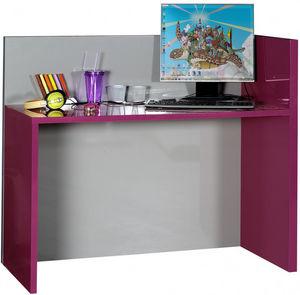 WHITE LABEL - bureau pour enfant design coloris fuchsia et gris - Bureau Enfant