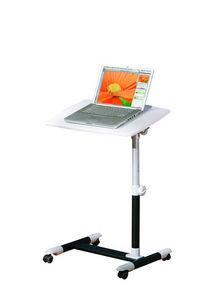 WHITE LABEL - support console ordinateur portable coloris noire  - Bureau