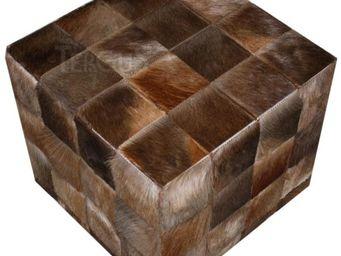 Tergus - pouf peau de blesbok - Pouf