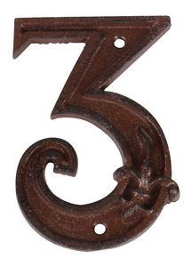 BEST FOR BOOTS - numéro de maison en fonte 3 11,4x7,5x1cm - Numéro De Porte