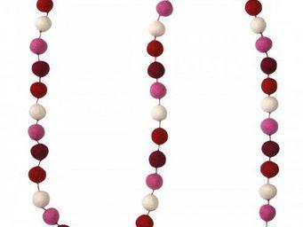 Lamali - guirlande boules feutres couleurs bonbon - Guirlande