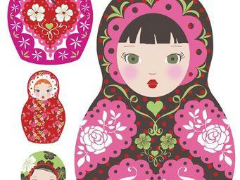 Nouvelles Images - sticker mural poupées russes - Sticker