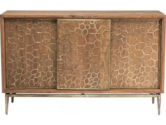 Kare Design - buffet mesh brass - Buffet Bas