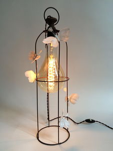 VIEUBLED - white butterflies - Lampe À Poser