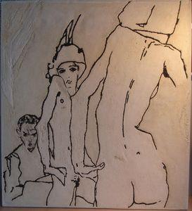 MARCHAND DE SABLES - egon schiele 2 - Décoration Murale