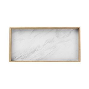 LOUISE ROE COPENHAGEN - tray nature white marble laminate - Plateau
