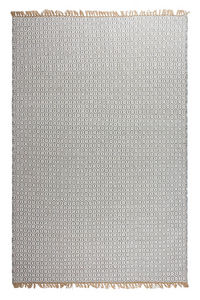 FABHABITAT - tapis en plastique recyclé lancut gris grand - Tapis Contemporain