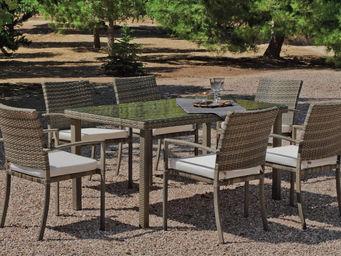HEVEA - table à manger et fauteuils jardin abasari - Salle À Manger De Jardin