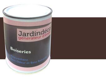 Peinturokilo - peinture brun chocolat pour meuble en bois brut 1 - Peinture Meuble