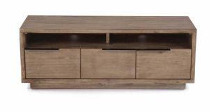 INWOOD - meuble télé 2 portes 1 tiroir et 2 niches kalisto - Meuble Tv Hi Fi