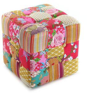 VERSA - pouf carré patchwork bohème - Pouf