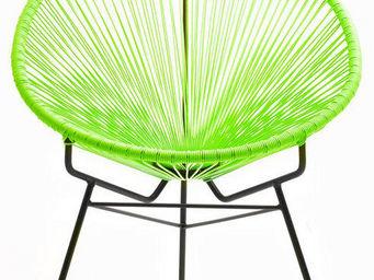Delorm design - fauteuil extérieur spring vert en résine et acier - Fauteuil De Jardin