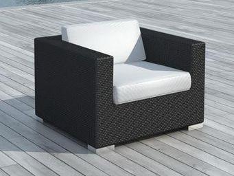 Delorm design - sofa de jardin en résine tressée (noir) - Fauteuil De Jardin