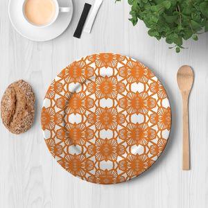 la Magie dans l'Image - assiette african orange - Assiette De Présentation