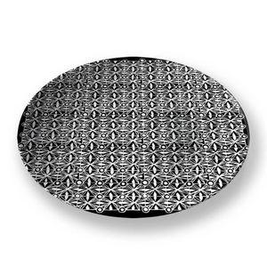 la Magie dans l'Image - assiette anis noir blanc - Assiette De Présentation