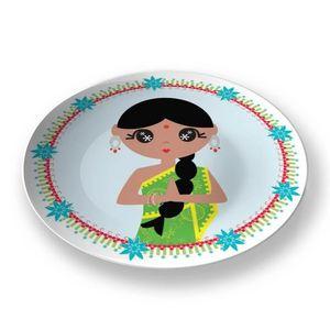 la Magie dans l'Image - assiette héros indienne - Assiette De Présentation