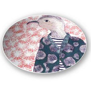 la Magie dans l'Image - assiette mon petit oiseau fond rose - Assiette De Présentation
