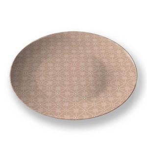 la Magie dans l'Image - assiette trfle beige foncé beige - Assiette De Présentation