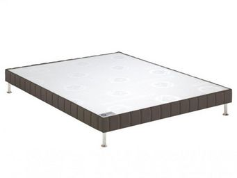 Bultex - bultex sommier tapissier confort ferme taupe 130* - Sommier Fixe À Ressorts