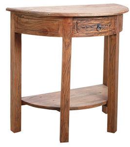 AUBRY GASPARD - console demi-lune en bois naturel antique - Console