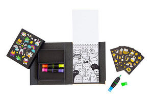 BERTOY - neon colouring sets glow friends - Cahier De Coloriage