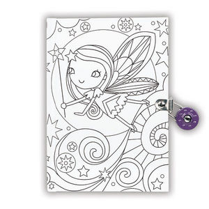 BERTOY - locked diaries fairy - Carnet De Coloriage
