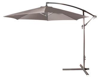 CEMONJARDIN - parasol déporté ø 300 taupe - Parasol Excentré