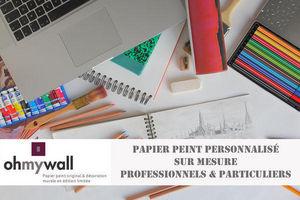 Ohmywall - papier peint personnalisé sur mesure - Papier Peint Personnalisé