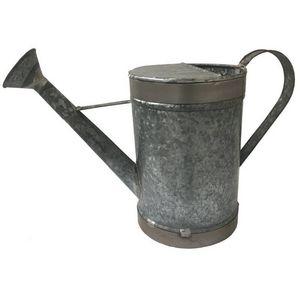 CHEMIN DE CAMPAGNE - style ancien arrosoir de jardin en fer galva 2 lit - Arrosoir