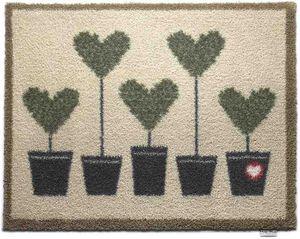 HUG RUG - tapis en fibres naturelles motif coeurs 65x85 cm - Paillasson