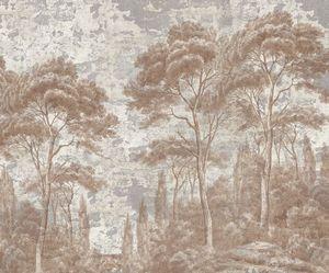 Ananbô - pins et cyprès sépia - patine xviiième - Papier Peint Panoramique