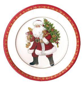 CASPARI - pere noël - Assiette En Carton De Noël