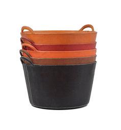 Sol & Luna - large leather bag - Corbeille De Rangement