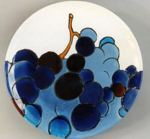 Emmanuelle Parent - raisins bleus - Plat Rond