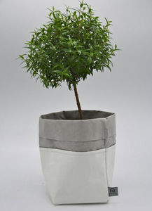 ROTIN ET OSIER - dafne blanc gris - Cache Pot