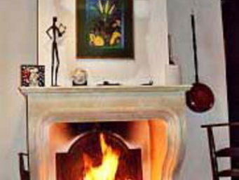 Atelier Alain Edouard Bidal - cheminée à trumeau et foyer ouvert ch21 - Cheminée À Foyer Ouvert
