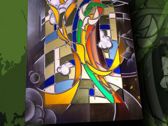 Atelier 1..2..3 vitrail - présence - Vitrail