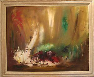 www.maconochie-art.com - solomon mines - Huile Sur Toile Et Huile Sur Panneau