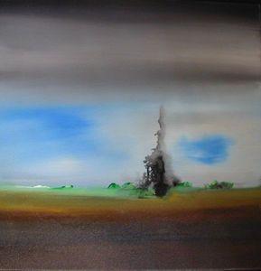 www.maconochie-art.com - ink trees 2 - Huile Sur Toile Et Huile Sur Panneau