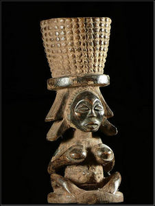 Arts Africains - mortier a chanvre ou tabac - Mortier
