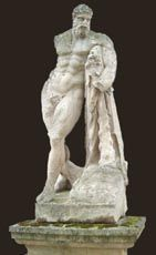 Jacques Pouillon - statue de l 'hercule farn�se - Statue