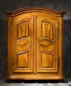 Bertrand Klein - armoire alsace médaillon - Armoire Alsacienne