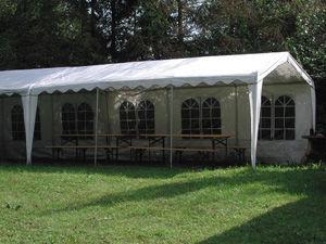 TRAUM GARTEN - tonnelle de réception lotus en acier et polyéthylè - Tente De Jardin