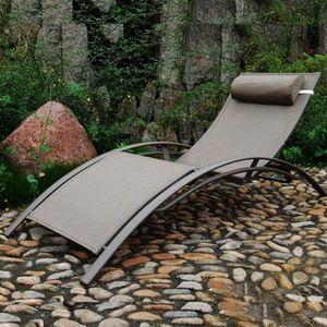 LE RÊVE CHEZ VOUS - chaise longue - bain de soleil aluminium et textil - Bain De Soleil