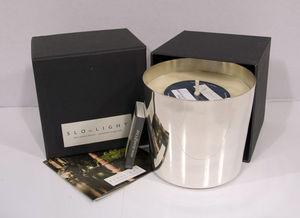 SLOWLIGHT / RECANDLE / SCENTA - slowlight silver line - Bougie Parfumée